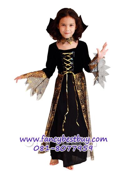 ชุดแดร๊กคูล่าหญิงสำหรับงานแฟนซี วันฮาโลวีน VAMPIRES GIRL มีขนาด S, M, L