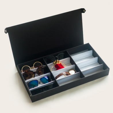 กล่องแว่นตาวัสดุ ทำจากผ้าสังเคราห์คุณภาพสูง