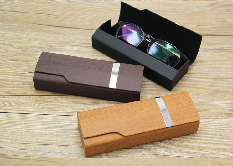 กล่องแว่นตา เคลือบงานไม้ วินเทจ