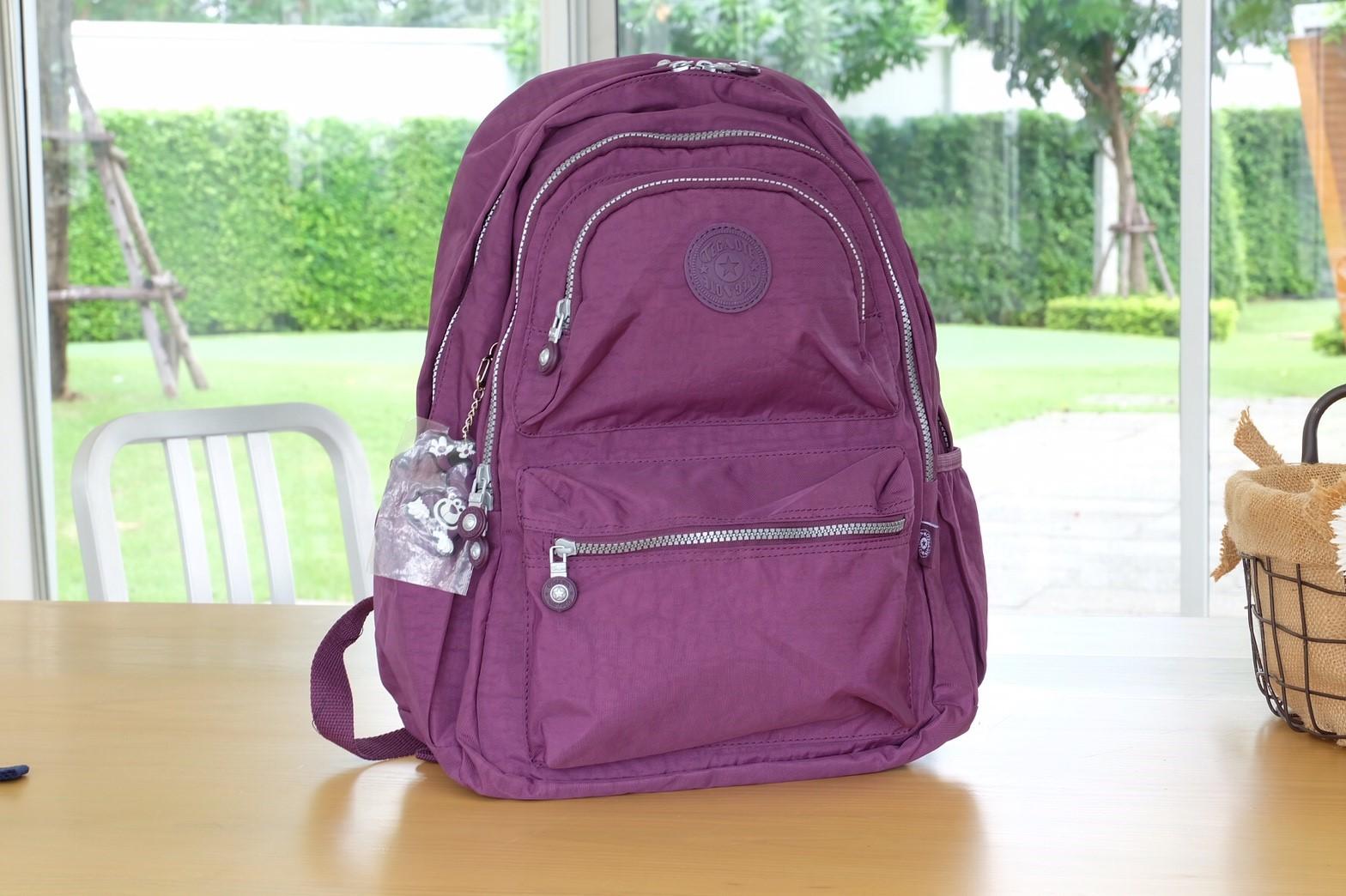 กระเป๋า kipling สะพายยาว สีม่วง
