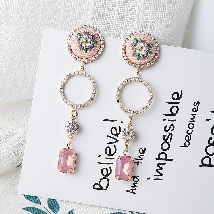 ต่างหู Flower Diamond Ring Korea ER3121