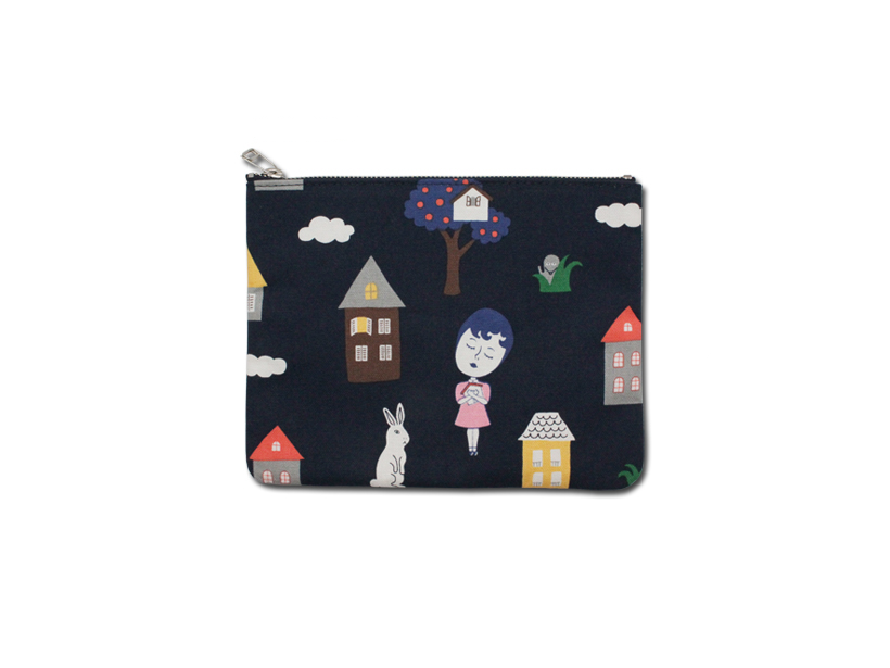 HOME OF MY HEART COATED POUCH M