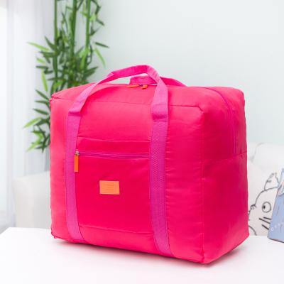 (สีชมพู) กระเป๋าเดินทางพับเก็บได้ สามารถพ่วงกับกระเป๋าเดินทางรถเข็นได้ ขนาด 42 x 34 x 18 CM ความจุ 30 ลิตร