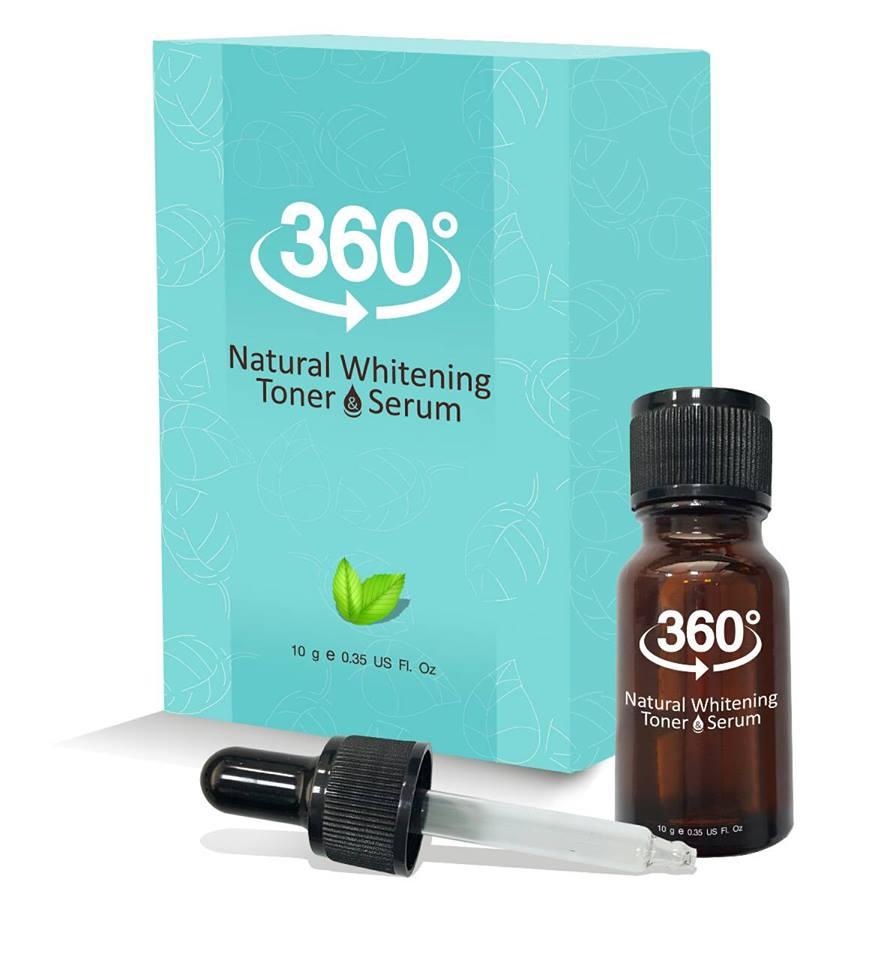 360 Natural Whitening Toner Serum 10 g. 360 เนเชอรัล ไวท์เทนนิ่ง โทนเนอร์ กำจัดฝ้า กระลึก