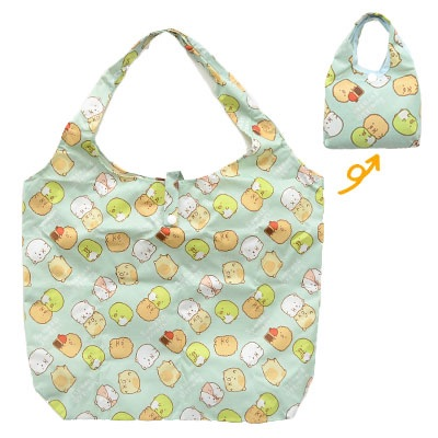 กระเป๋าพับเก็บได้ Sumikko Gurashi สีฟ้า