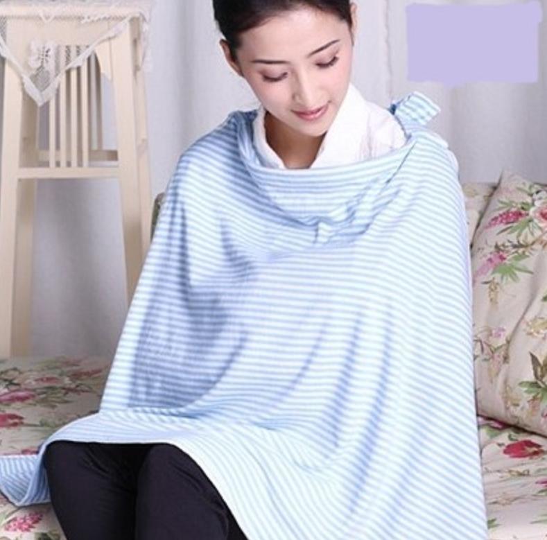 ผ้าคลุมให้นม สีฟ้า